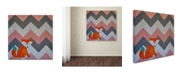 "Trademark Global Nicole Dietz 'Fox on Chevron' Canvas Art - 14"" x 14"""
