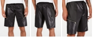"""INC International Concepts INC Men's Scotty Faux Leather 10 3/4"""" Shorts, Created for Macy's"""