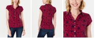 Charter Club Floral-Print Polo Shirt, Created For Macy's