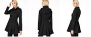 Calvin Klein Petite Hooded Skirted Raincoat