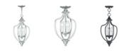 Livex Home Basics 3-Light Convertible Mini Chandelier/Ceiling Mount