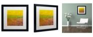 "Trademark Global Michelle Calkins 'Highway Series Soil' Matted Framed Art - 16"" x 16"""