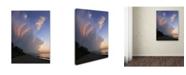 """Trademark Global Kurt Shaffer 'Developing Sunset Storm' Canvas Art - 14"""" x 19"""""""