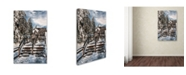 "Trademark Global Lois Bryan 'Watch Your Step' Canvas Art - 12"" x 19"""