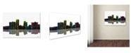 "Trademark Global Marlene Watson 'Little Rock Arkansas Skyline II' Canvas Art - 12"" x 19"""