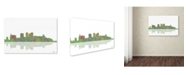 "Trademark Global Marlene Watson 'Birmingham Alabama Skyline III' Canvas Art - 12"" x 19"""