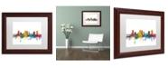 """Trademark Global Michael Tompsett 'Fort Worth Texas Skyline' Matted Framed Art - 11"""" x 14"""""""