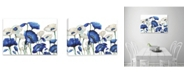 Artissimo Designs Royal Blues In Spring Hand Embellished Canvas