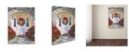 "Trademark Global David Lloyd Glover 'Poinsettia House' Canvas Art - 14"" x 19"""