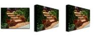 """Trademark Global David Lloyd Glover 'A Spanish Garden' Canvas Art - 24"""" x 18"""""""