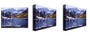 "Trademark Global David Lloyd Glover 'Rocky Mountain Solitude' Canvas Art - 24"" x 18"""