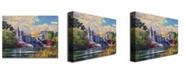 "Trademark Global David Lloyd Glover 'Belvedere Castle Central Park' Canvas Art - 32"" x 24"""