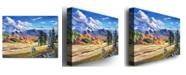 "Trademark Global David Lloyd Glover 'Autumn in the Foothills' Canvas Art - 24"" x 18"""