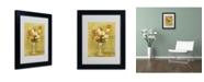 "Trademark Global Pierre Auguste Renoir 'Tulipes 1909' Matted Framed Art - 14"" x 11"""