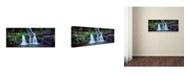 "Trademark Global David Evans 'Elabana Falls-Lamington NP' Canvas Art - 32"" x 10"""