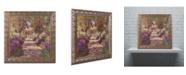 "Trademark Global Claude Monet 'A Pathway in Monet's Garden' Ornate Framed Art - 16"" x 16"""