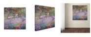 "Trademark Global Claude Monet 'The Artist's Garden at Giverny' Canvas Art - 26"" x 26"""