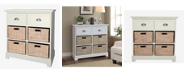 Gallerie Decor Newport Two Drawer Four Basket Table