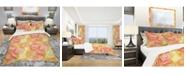 Design Art Designart 'Round Shapes' Modern and Contemporary Duvet Cover Set - King