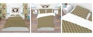 Design Art Designart 'Art Deco Pattern' Patterned Duvet Cover Set - Twin