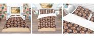 Design Art Designart 'Champignons Pattern' Modern and Contemporary Duvet Cover Set - King