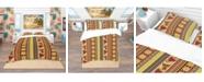 Design Art Designart 'African Drum Beckground' Tropical Duvet Cover Set - King