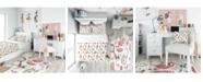 Design Art Designart 'Beauty And Fashion Pattern With Girls' Modern Teen Duvet Cover Set - Twin