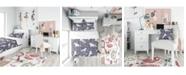 Design Art Designart 'Watercolor Unicorn Pattern' Modern Teen Duvet Cover Set - King