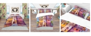 Design Art Designart 'Colorful Ancient Castle Oil Painting' Modern and Contemporary Duvet Cover Set - Queen