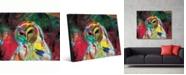 "Creative Gallery Spooky Owl Abstract Portrait Metal Wall Art Print - 16"" x 20"""