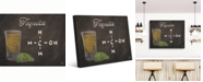 "Creative Gallery Tequila Shot on Chalkboard-Background Portrait Metal Wall Art Print - 16"" x 20"""
