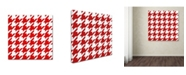 "Trademark Global Color Bakery 'Xmas Houndstooth 2' Canvas Art - 35"" x 35"""