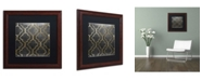 "Trademark Global Color Bakery 'Paris Apartment III' Matted Framed Art - 16"" x 16"""