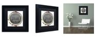 "Trademark Global Color Bakery 'Paris in Frames 8' Matted Framed Art - 11"" x 11"""