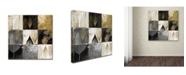 "Trademark Global Color Bakery 'Fallen Gold III' Canvas Art - 18"" x 18"""