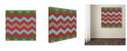 "Trademark Global Color Bakery 'Xmas Chevron 7' Canvas Art - 35"" x 35"""