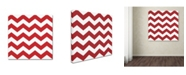 "Trademark Global Color Bakery 'Xmas chevron 8' Canvas Art - 24"" x 24"""