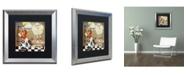 "Trademark Global Color Bakery 'Childhood II' Matted Framed Art - 16"" x 16"""