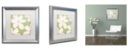 "Trademark Global Color Bakery 'English Garden II' Matted Framed Art - 16"" x 16"""