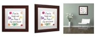 "Trademark Global Color Bakery 'Happy' Matted Framed Art - 11"" x 11"""