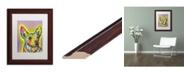 """Trademark Global Dean Russo 'Listening' Matted Framed Art - 11"""" x 14"""""""
