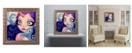"Trademark Global Natasha Wescoat 'A Little Birdy Told Me' Ornate Framed Art - 16"" x 16"""