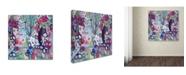 """Trademark Global Carrie Schmitt 'In The Flow' Canvas Art - 14"""" x 14"""""""