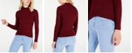Say What? Juniors' Mock-Turtleneck Tulip-Hem Sweater