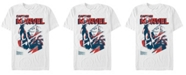 Marvel Men's Comic Collection Captain Marvel Silhouette Short Sleeve T-Shirt