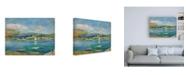 """Trademark Global Pierre Auguste Renoir Port de peche, Vue de Fontarabie depuis Hendaye Canvas Art - 15.5"""" x 21"""""""