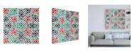 "Trademark Global Philippe Hugonnard Made in Spain 3 Oriental Mosaic III Canvas Art - 15.5"" x 21"""