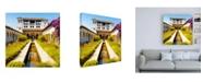 "Trademark Global Philippe Hugonnard Made in Spain 3 Palacio de Generalife of the Alhambra Canvas Art - 36.5"" x 48"""
