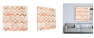 "Trademark Global June Erica Vess Red Earth Textile VIII Canvas Art - 15.5"" x 21"""