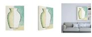 "Trademark Global Pablo Esteban White and Yellow Vase Canvas Art - 15.5"" x 21"""